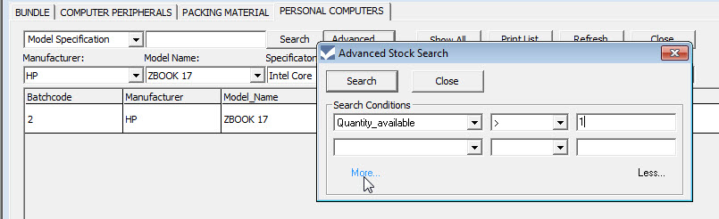advanced stock search