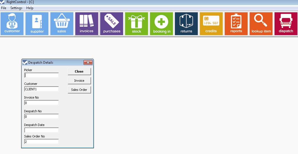 dispatch picker screen inventoy management software
