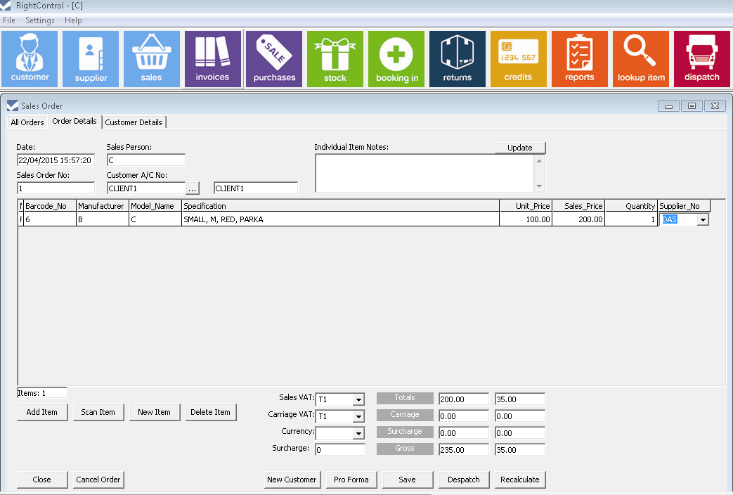 inventory management software new sales order screen2
