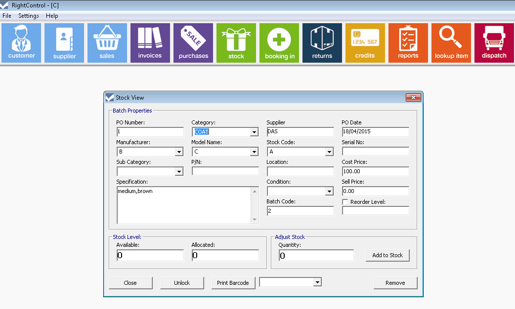 Solo Rightcontrol Stock Control Software For Small