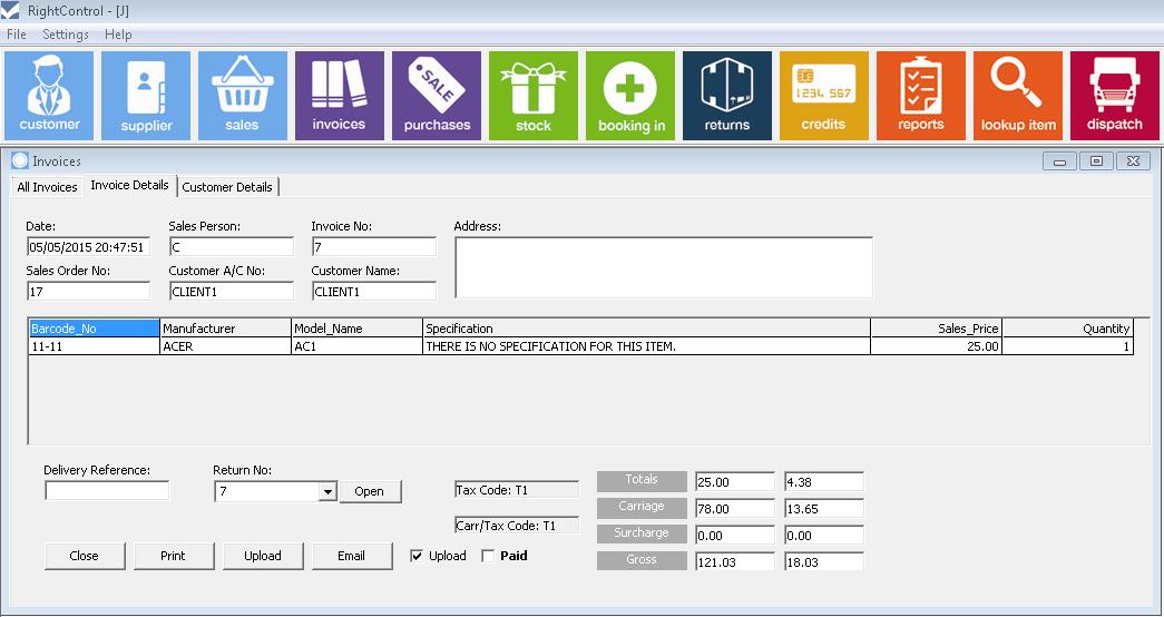 invoice details 2