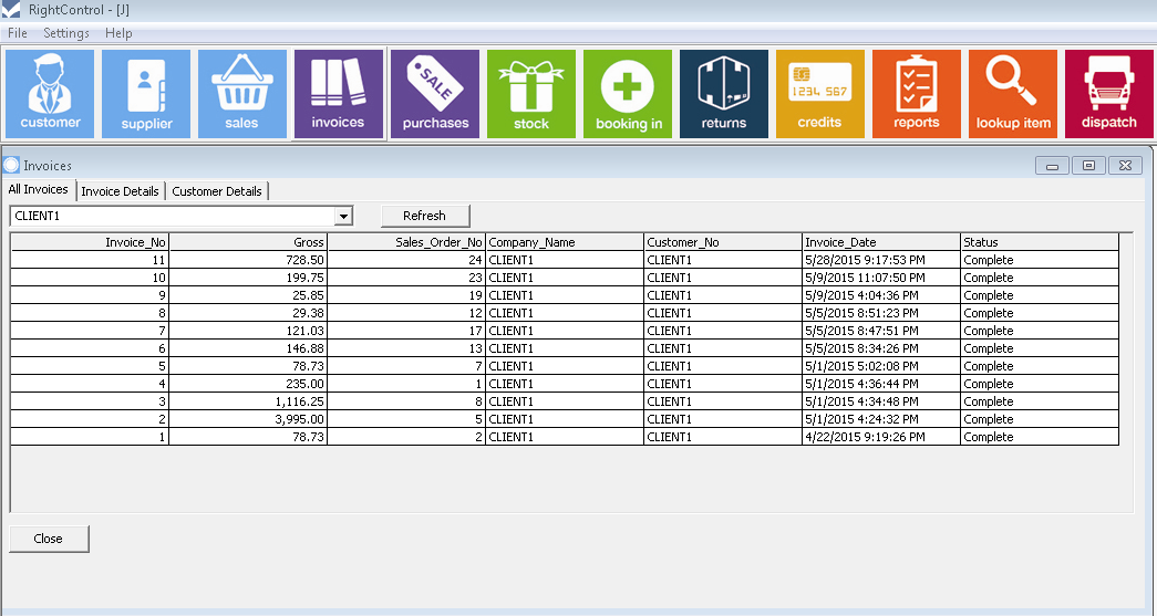 Invoicing RightControl Stock Control Software For Small Businesses - Invoice and inventory software